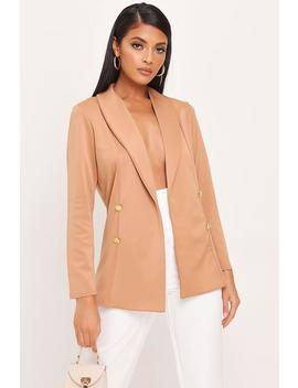 Stone Double Button Blazer by I Saw It First