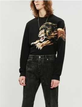 Lion Print Cotton Jersey Sweatshirt by Givenchy