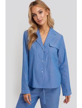 Chambray Cotton Night Shirt Blau by Na Kd Lingerie