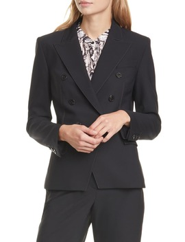 Ravenna Topstitch Detail Stretch Wool Jacket by Judith & Charles