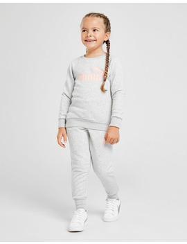 Puma Girls' Logo Crew Suit Children by Jd Sports