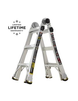 14 Ft. Reach Mpx Aluminum Multi Position Ladder With 375 Lb. Load Capacity Type Iaa Duty Rating by Gorilla Ladders