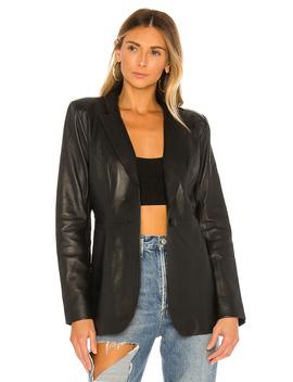 Carmen Leather Blazer by L'academie