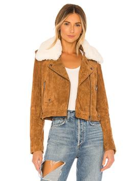 Faux Fur Moto Jacket by Blanknyc