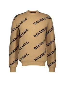 Allover Logo Wool Jumper by Balenciaga