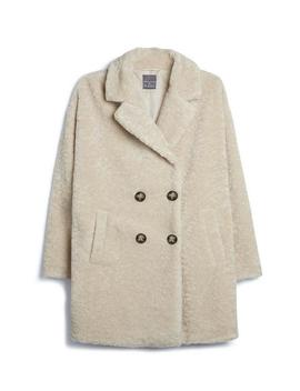 Cream Teddy Coat by Primark