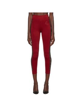 Red Ff 'roma' Stamp Leggings by Fendi