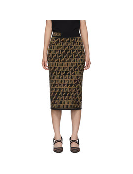 Brown 'forever Fendi' Skirt by Fendi