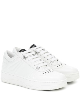 Hawaii F Leather Sneakers by Jimmy Choo