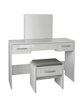 Argos Home New Hallingford Dressing Table   Grey Gloss764/5554 by Argos