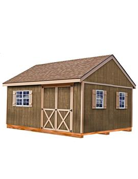 New Castle 16 Ft. X 12 Ft. Wood Storage Shed Kit With Floor Including 4 X 4 Runners by Best Barns
