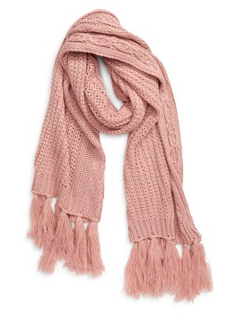 Fringe Cable Knit Scarf by Treasure & Bond