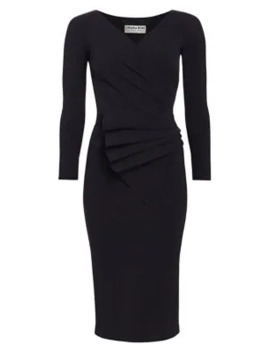 Kaya Pleated Detail Bodycon Dress by Chiara Boni La Petite Robe