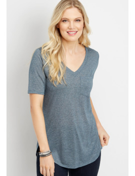 24/7 V Neck Tunic Tee by Maurices