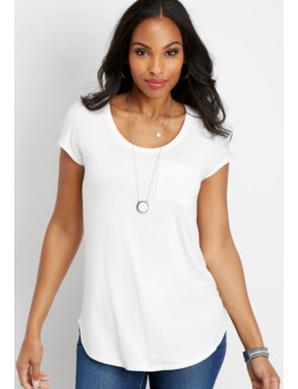 24/7 Single Pocket Dolman Tee by Maurices