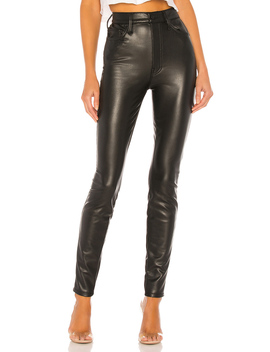 The Super Swooner Vegan Leather Pant by Mother