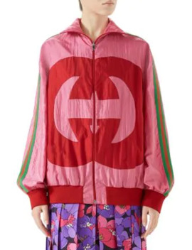 Long Sleeve Oversize Gg Zip Up Jacket by Gucci