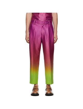 Pink & Yellow Alex Degrade Cropped Trousers by Sies Marjan