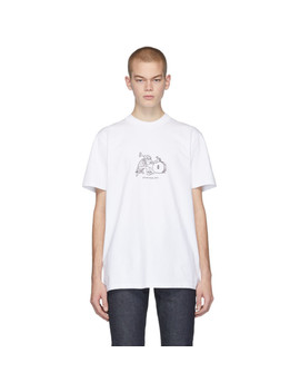 White Jjj Jound Edition Rough T Shirt by A.P.C.