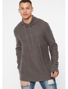 Gray Marled Cowl Neck Texture Sweater by Rue21
