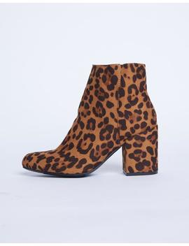 Chunky Leopard Babe Booties by 2020 Ave