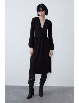 Vestido Textura Combinado by Zara