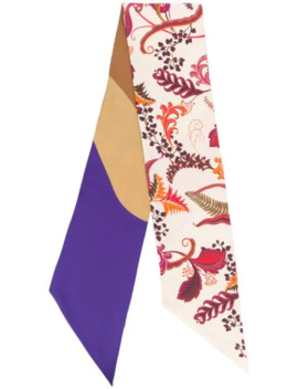 Leaf Print Silk Scarf by Salvatore Ferragamo