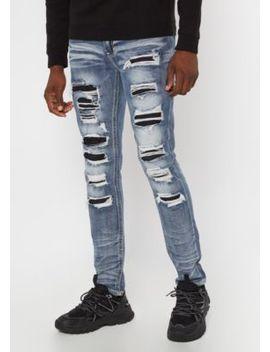 Supreme Flex Medium Wash Rip Repair Skinny Jeans by Rue21