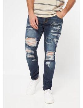 Supreme Flex Dark Wash Rip Repair Skinny Jeans by Rue21