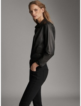 Black Mid Waist Skinny Jeans by Massimo Dutti