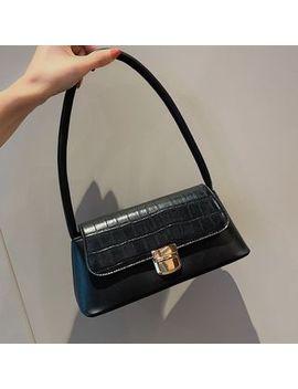 Shinian   Croc Grain Shoulder Bag by Shinian