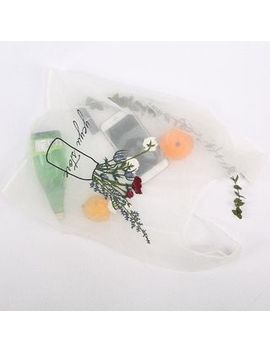 Tang Tang Bags   Floral Embroidered Mesh Shopper Bag by Tang Tang Bags