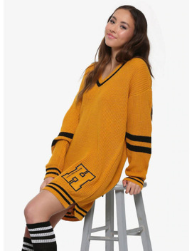 Harry Potter Hufflepuff Sweater Dress by Her Universe