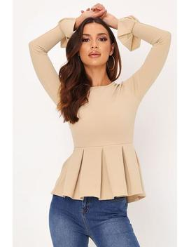 Taupe Woven Pleated Hem Top by I Saw It First