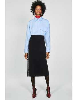 Skirt With Slogan Taping by Zara
