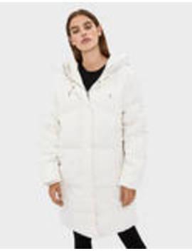Hooded Long Puffer Coat by Bershka
