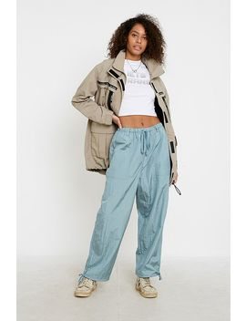 Uo Blue Smog Voluminous Crinkle Joggers by Urban Outfitters