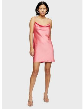 Coral Cowl Neck Slip Dress by Miss Selfridge