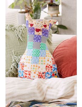 Patchwork Cat Cushion by Urban Outfitters