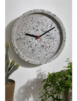 Karlsson Grey Terrazzo Wall Clock by Karlsson