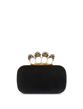 Spider Jewelled Four Ring Box Clutch by Alexander Mc Queen
