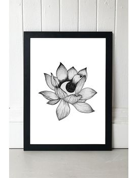 Lotus Moon By Rica Angeline Caoile Wall Art by Rica Angeline Caoile