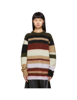 Green & Red Kalbah Sweater by Acne Studios