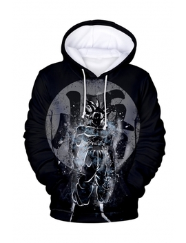 Hot Popular Comic Figure 3 D Printed Black Long Sleeve Casual Loose Drawstring Hoodie by Beautiful Halo