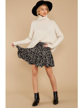 Say Anything Cream Turtleneck Sweater by Fable