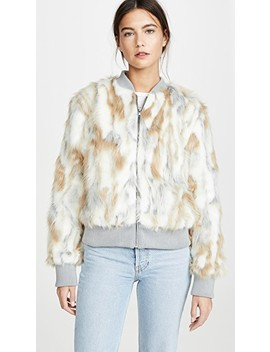 Sia Faux Fur Jacket by Cupcakes And Cashmere