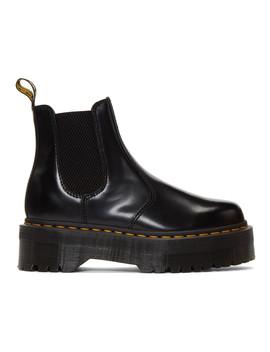 黑色 2976 Quad 防水台切尔西靴 by Dr. Martens