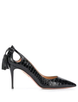 Crocodile Effect Pumps by Aquazzura