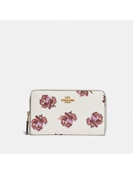 Medium Zip Around Wallet With Floral Print by Coach