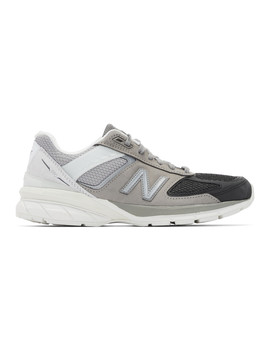 Grey & Black Us Made 990v5 Sneakers by New Balance